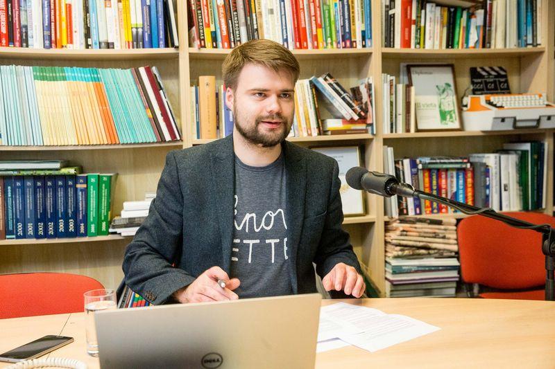 """Deividas Budginas, komunikacijos agentūros """"Komunikacijos amatininkai"""" vadovas. Juditos Grigelytės (VŽ) nuotr."""