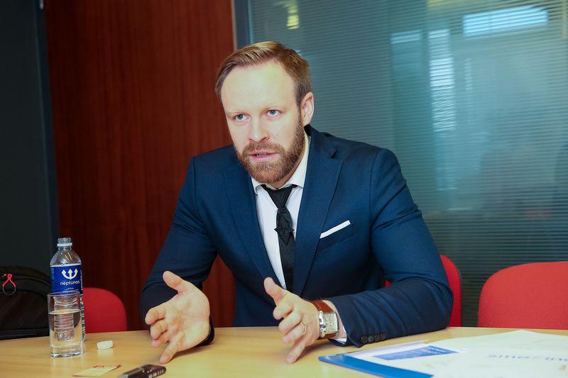 """Mindaugas Mikalajūnas, Lietuvos sąskaitų kreditavimo įmonės """"SME Finance"""" vadovas. Vladimiro Ivanovo (VŽ) nuotr."""