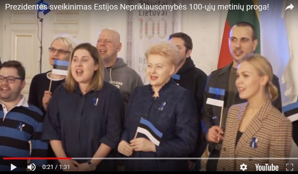 Lietuva originaliai sveikina vos jaunesnę Estijąsu100-uoju gimtadieniu