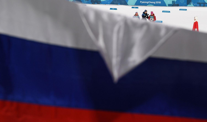 Žiemos olimpiados uždarymo ceremonijoje Rusijos vėliava neplevėsuos