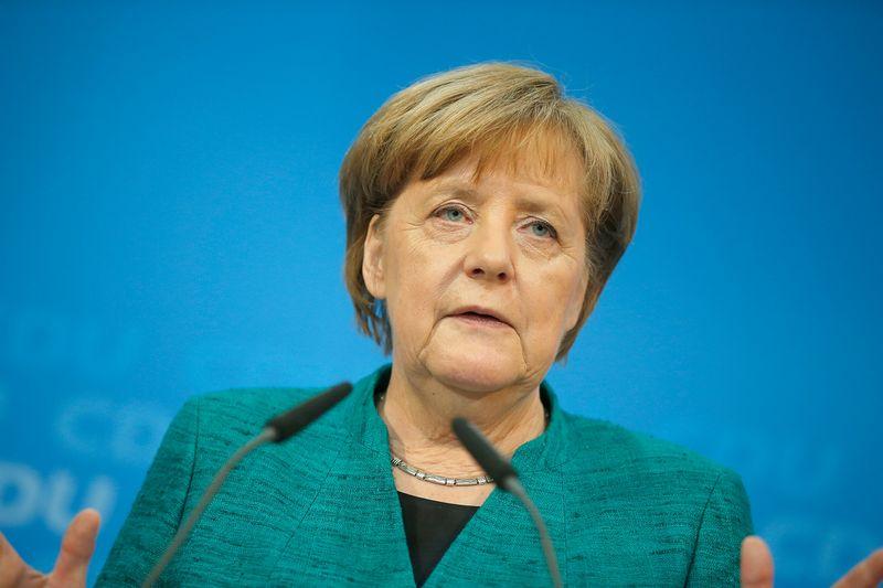 "Vokietijos kanclerė Angela Merkel. Axelio Schmidto (""Reuters"" / ""Scanpix"") nuotr."