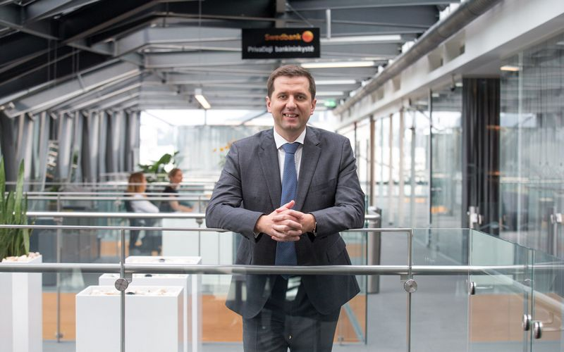 """Tadas Gudaitis, UAB """"Swedbank investicijų valdymas"""" direktorius. Juditos Grigelytės (VŽ) nuotr."""