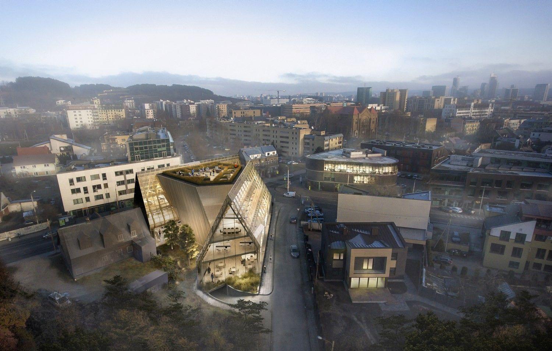 Paskelbti verslo centro Žvėryne architektūrinio konkursonugalėtojai