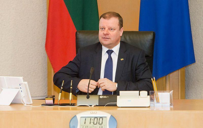 Saulius Skvernelis, Lietuvos ministras pirmininkas. Juditos Grigelytės (VŽ) nuotr.