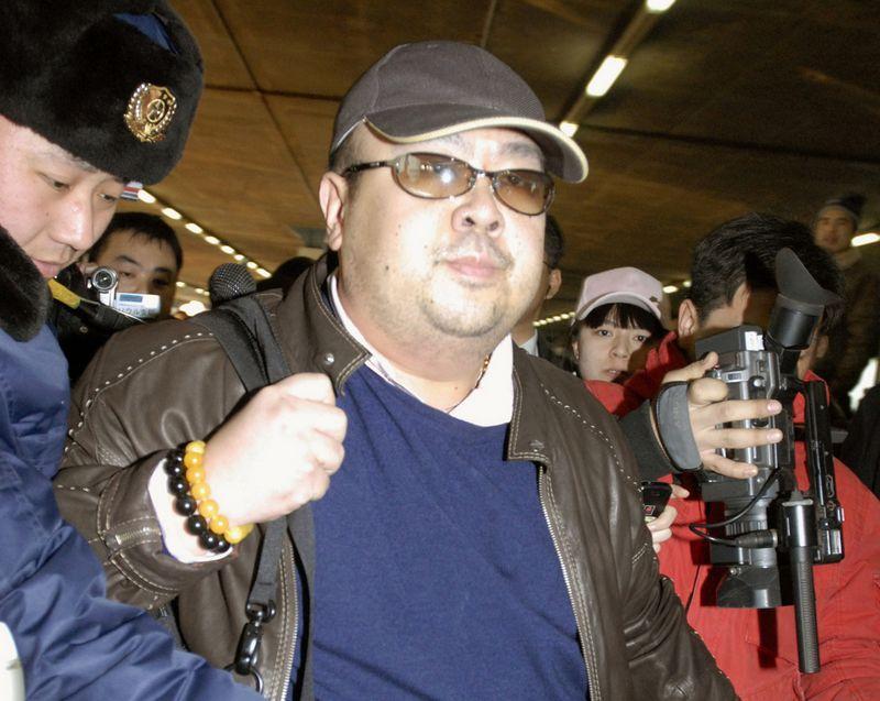 """Netikras Šiaurės Korėjos brolis Kim Jong Namas buvo nunuodytas Malaizijos oro uoste. """"Kyodo""""/via """"Reuters""""/""""Scanpix"""" nuotr."""