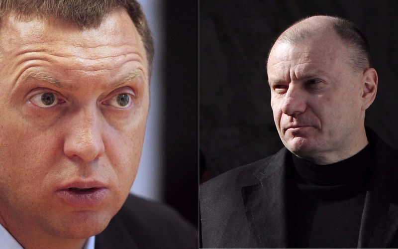 """Olego Deripaskos (kairėje) ir Vladimiro Potanino kovos rezultatus pajus visi akumuliatorius naudojančios įrangos gamintojai. Aleksandro Natruskino ir Maksimo Šemetovo (""""Reuters"""" / """"Scanpix"""") nuotr."""