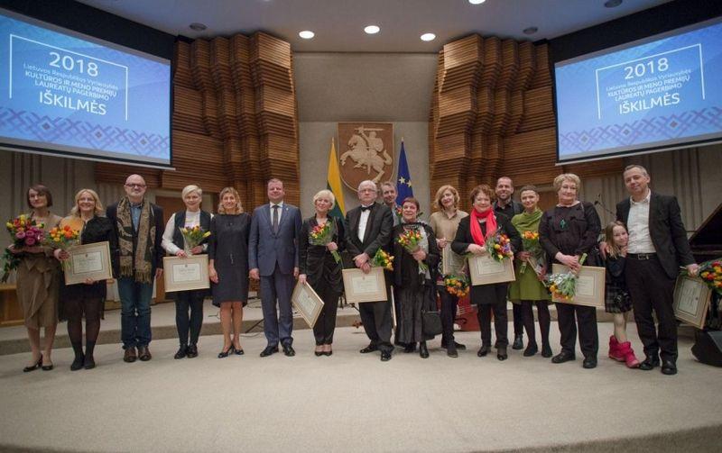 Vyriausybės kultūros ir meno premijos laureatai. lrv.lt nuotr.