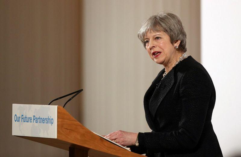 Theresa May, Jungtinės Karalystės ministrė pirmininkė. Jonathano Brady (Reuters / Scanpix) nuotr.