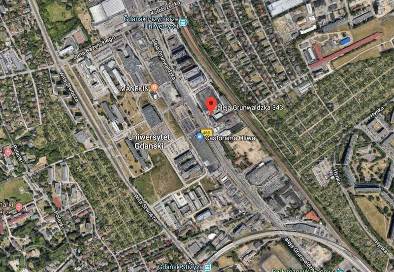 """Būsimo verslo komplekso vieta mieste. """"Google Maps"""" nuotr."""
