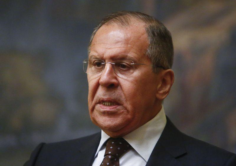 """Rusijos užsienio reikalų ministras išreiškė savo norus dėl JK premjerės ultimatumo. Sergejaus Karpukhino (""""Reuters""""/""""Scanpix"""") nuotr."""