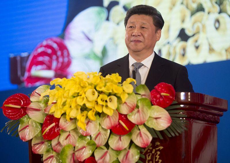 """Xi Jingpingas buvo vienbalsiai perrinktas antrajai kadencijai. Saulio Loebo, """"Reuters"""" / """"Scanpix"""" nuotr."""