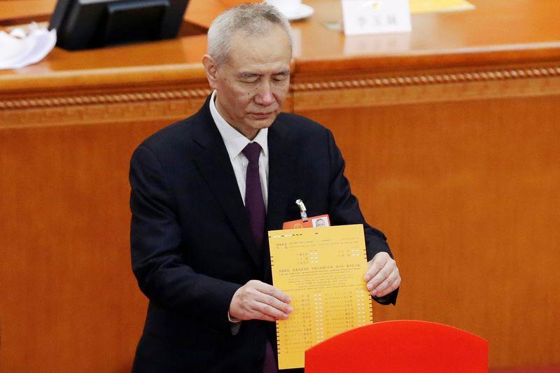 """Liu He, paskirtasis naujas Kinijos vicepremjeras. Jasono Lee (""""Reuters"""" / """"Scanpix"""") nuotr."""