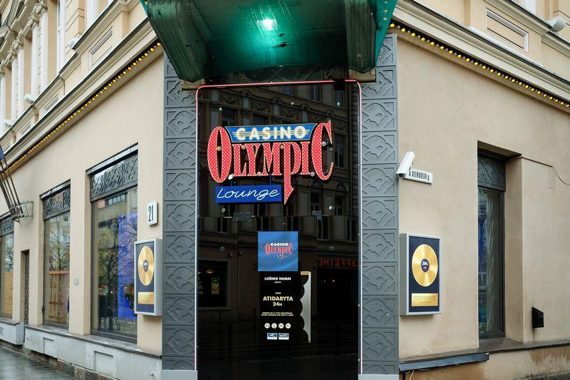"""""""Olympic Casino"""" iškaba. Vladimiro Ivanovo (VŽ) nuotr."""