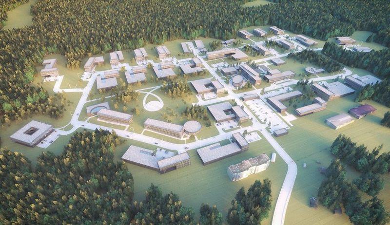 Vilniaus miesto inovacijų pramonės parko vizualizacija.