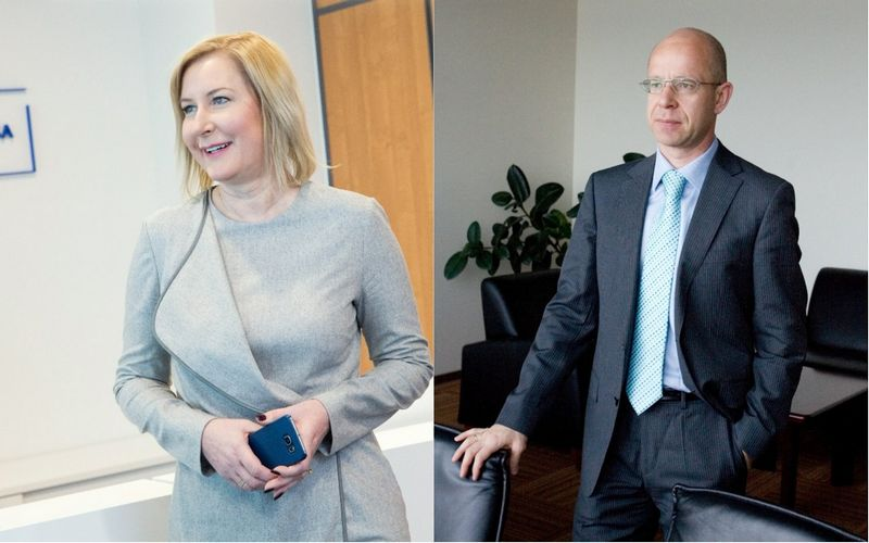 """Ignas Staškevičius, """"Vilniaus prekybos"""" grupės įmonių smulkusis akcininkas (dešinėje), ir Raimonda Kižienė, """"Euroapotheca"""" valdybos pirmininkė ir generalinė direktorė. VŽ koliažas."""