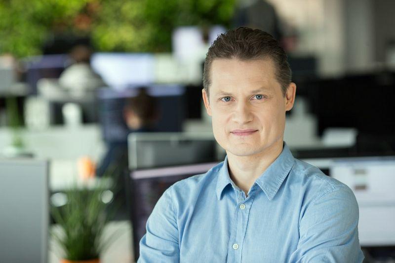 """Audrys Kažukauskas, """"HomeToGo"""" vyriausiasis technologijų vadovas: """"Vilniuje yra daug gerų IT profesionalų. Tikimės, kad """"HomeToGo"""" galėtų tapti svarbiu žingsniu jų profesinėje karjeroje."""" Bendrovės nuotr."""