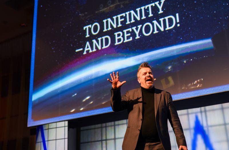 """Alfas Rehnas, inovacijų profesorius ir pripažintas """"Thinkers 50"""" mąstytojas. Ryčio Galadausko (VŽ) nuotr."""