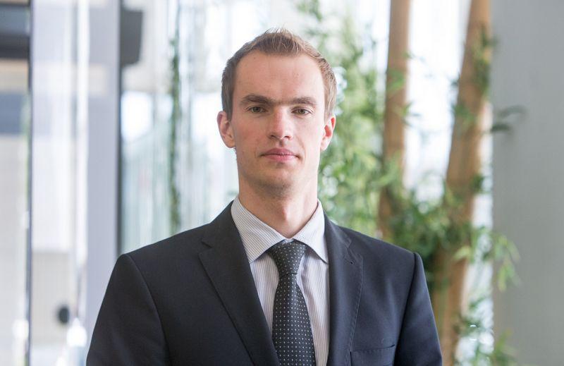 """Donatas Šetikas,  FMĮ """"Orion Securities"""" finansų makleris. Juditos Grigelytės (VŽ) nuotr."""