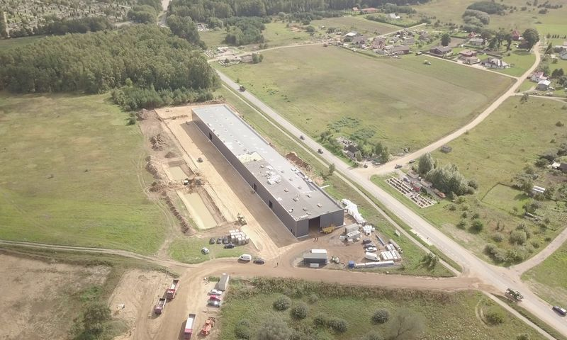 Bendrovės nuotr. Gamyklos statyba, 2017 m. ruduo.