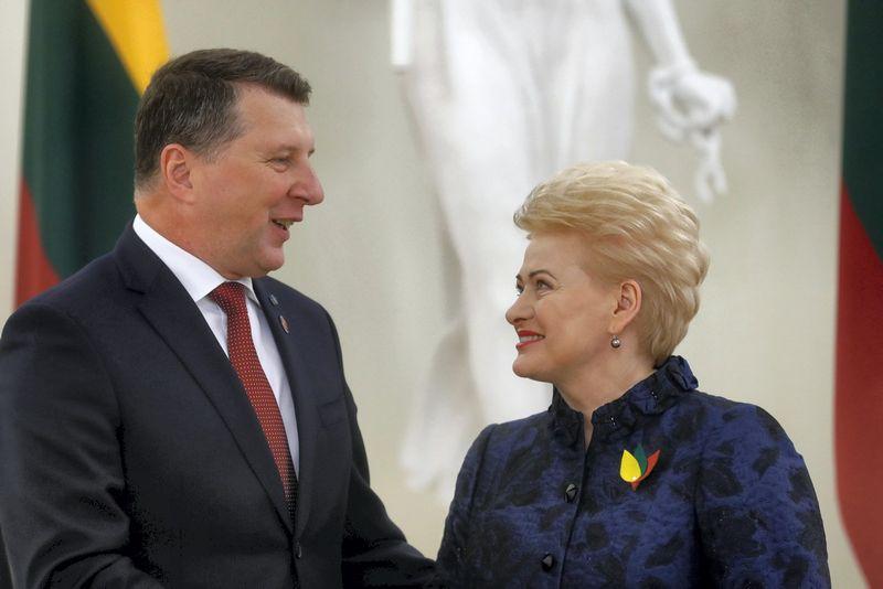 Raimundas Vėjonis, Dalia Grybauskaitė. Ints Kalnins (Reuters / Scanpix) nuotr.