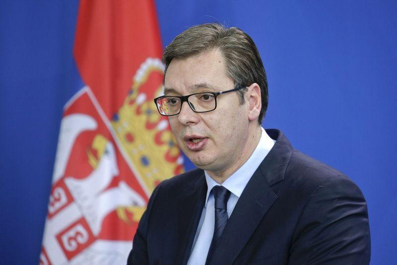 "Aleksandras Vučičius, Serbijos prezidentas. Reinerio Zenseno (""Sipa"" / ""Scanpix"") nuotr."