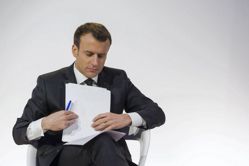 "Emmanuelis Macronas, Prancūzijos prezidentas. Blodet Eliot (""Sipa"" / ""Scanpix"") nuotr."