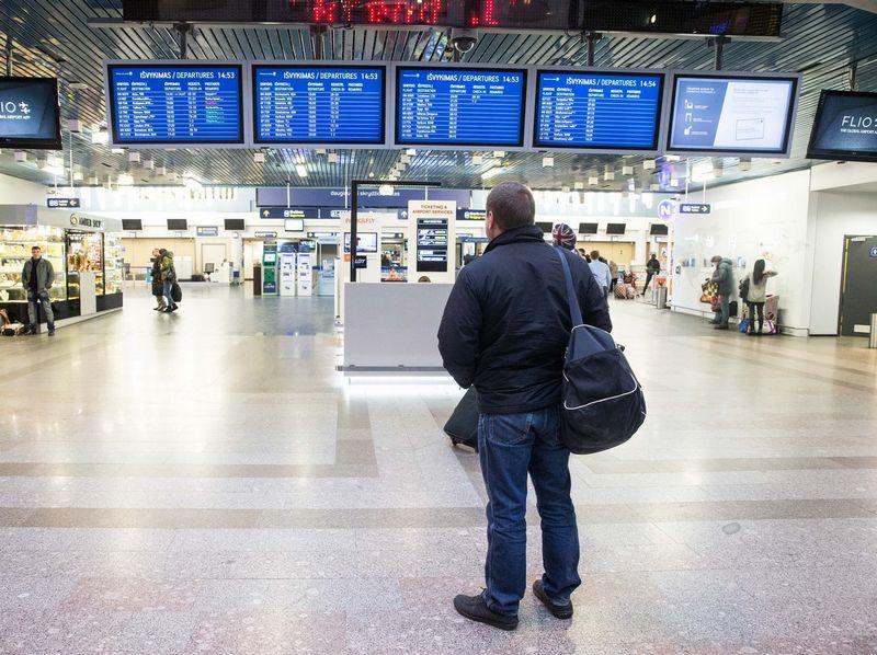 Tarptautinis Vilniaus oro uostas nepraneša apie jokius veiklos sutrikimus. Juditos Grigelytės (VŽ) nuotr.