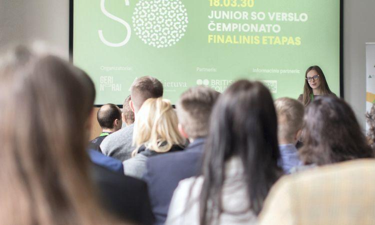 """Išrinkti visos Lietuvos jaunimo verslo čempionato """"Junior So"""" laimėtojai"""
