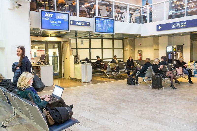 ETFMS sistemos gedimo metu Lietuvos oro uostų veikla išliko nesutrikusi. Juditos Grigelytės (VŽ) nuotr.
