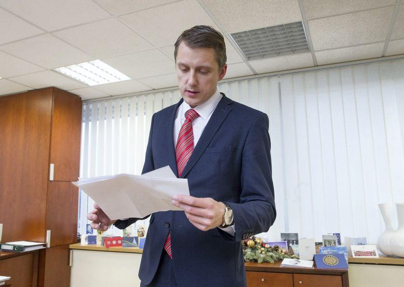Žygimantas Vaičiūnas, energetikos ministras, atidavė su kitomis institucijomis derinti įstatymo projektą dėl Valstybinės energetikos reguliavimo tarybos įsteigimo. Juditos Grigelytės (VŽ) nuotr.