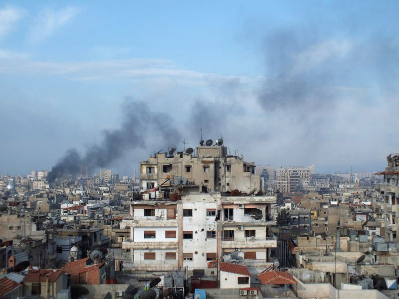 "Homso miestas Sirijoje. Yazano Homsy (""Reuters"" / ""Scanpix"") nuotr."