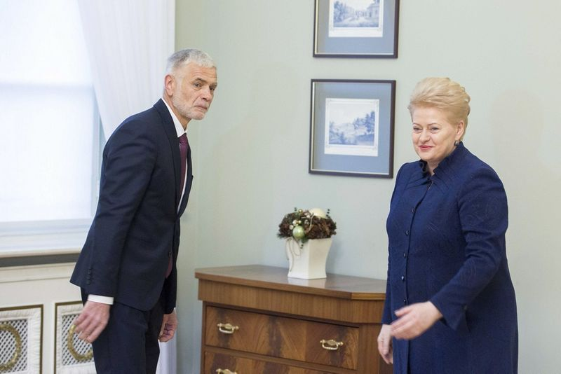 Bronius Markauskas ir Dalia Grybauskaitė. Irmanto Gelūno (15min.lt) nuotr.