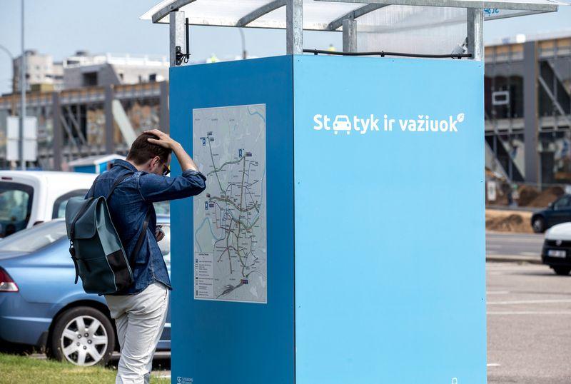 """Vilniaus miesto savivaldybės automobilių parkavimo paslauga """"Statyk ir važiuok"""". Juditos Grigelytės (VŽ) nuotr."""