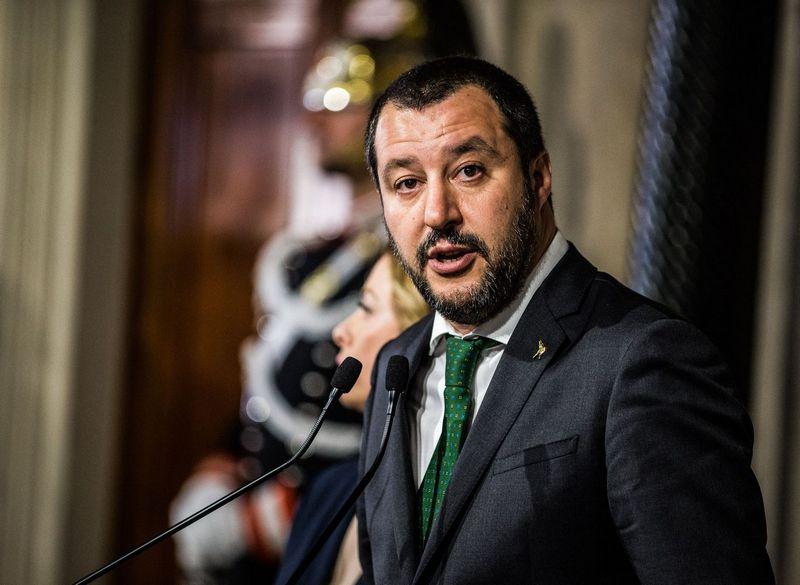 """Matteo Salvini, Lygos lyderis, pranešimus apie chemines atakas Sirijoje pavadino """"melagingomis naujienomis"""". Jin Yu (""""Xinhua"""" / Scanpix"""") nuotr."""