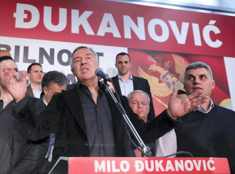 """Milo Džukanovičius, Juodkalnijos prezidento rinkimus laimėjęs politikas. Marko Djuricos (""""Reuters"""" / """"Scanpix"""") nuotr."""