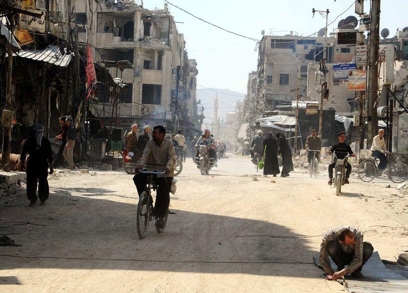 """Sirijos Dumos miestas. (""""Xinhua"""" / """"Scanpix"""") nuotr."""