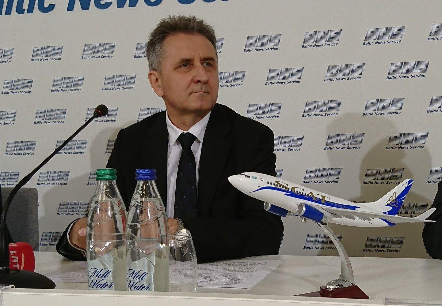 Kazachų oro linijos Vilnių pasirinko kaip pačiai bendrovei ir verslui svarbų miestą