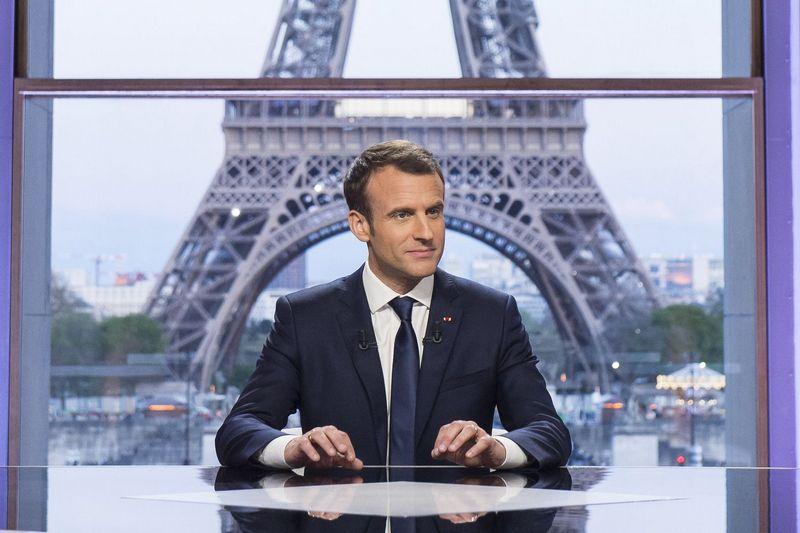 "Prancūzijos prezidentas Emmanuelis Macronas. Blondet Eliot  (""Sipa"" / ""Scanpix"") nuotr."