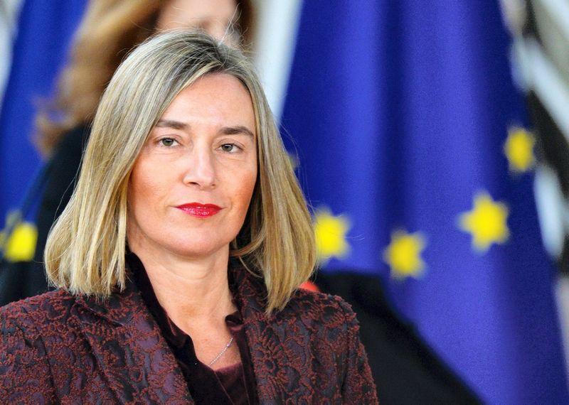 Federica Mogherini, ES užsienio politikos vadovė. Aleksejaus Vitvickio (Sputnik / Scanpix) nuotr.