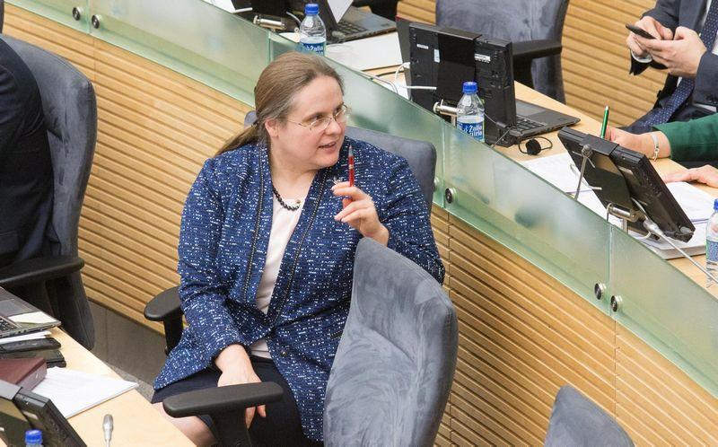 Agnė Širinskienė, Valstiečių ir žaliųjų frakcijos narė. Juditos Grigelytės (VŽ) nuotr.
