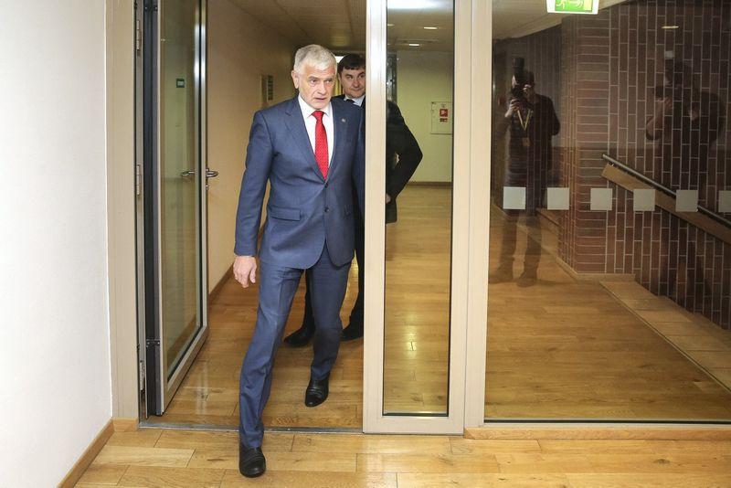 Bronius Markauskas, žemės ūkio ministras. Vladimiro Ivanovo (VŽ) nuotr.