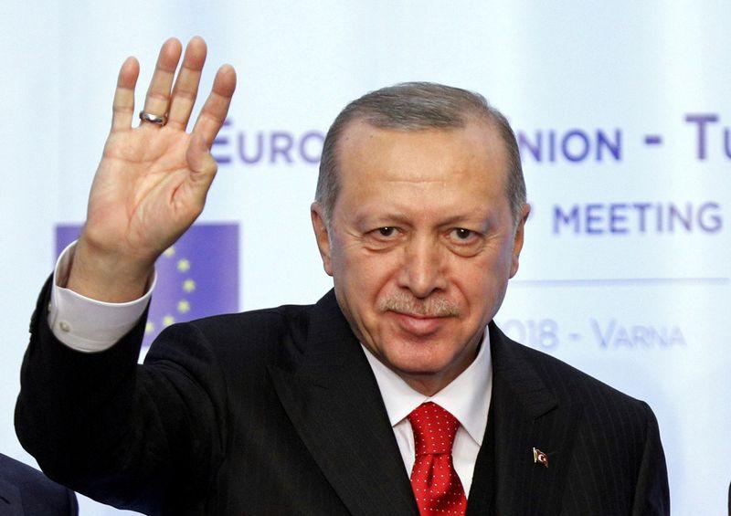"""Turkijos prezidentas Recepas Tayyipas Erdoganas. Stoyano Nenovo (""""Reuters"""" / """"Scanpix"""") nuotr."""