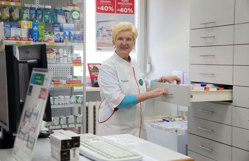 """Vida Grochauskaitė, UAB """"Eurovaistinė"""" vaistininkė. Juditos Grigelytės (VŽ) nuotr."""