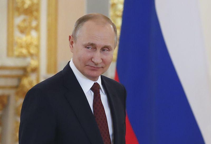 """Rusijos prezidentas Vladimiras Putinas. Sergejaus Ilnickio (""""Reuters"""" / """"Scanpix"""") nuotr."""