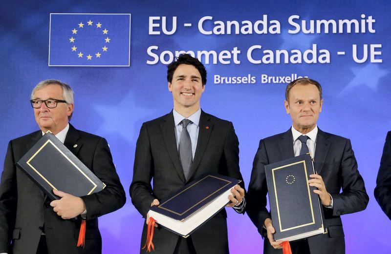 CETA pasirašymas Briuselyje. Francois Lenoir (Reuters / Scanpix) nuotr.