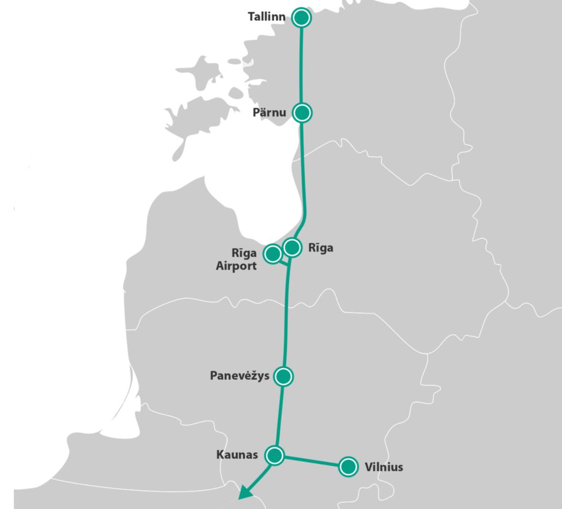 """""""Rail Baltica"""" ruože Kaunas–Vilnius tikisi 250 km/h greičio"""