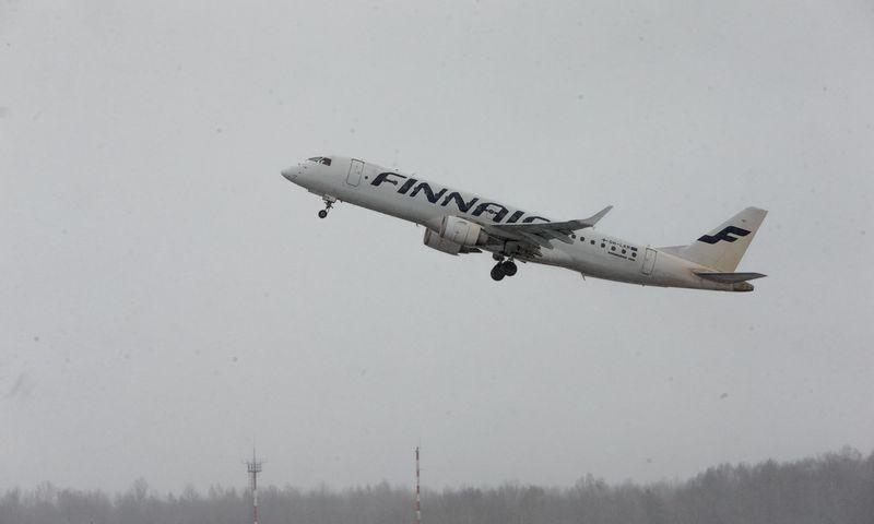 """""""Finnair"""" lėktuvas Vilniaus oro uoste. Vladimiro Ivanovo (VŽ) nuotr."""