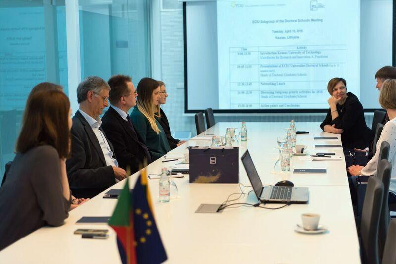 ECIU atstovai Vilniuje.