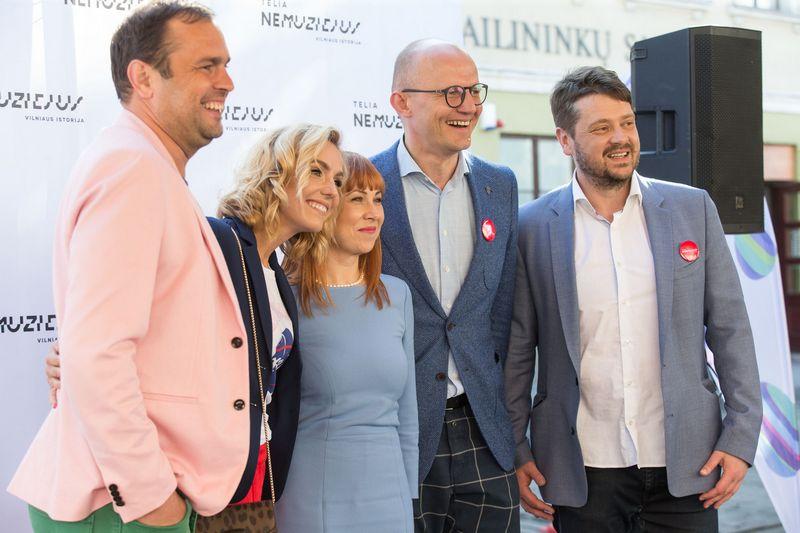 Jogaila Morkūnas su žmona, Jurgita Petrauskienė, Edmundas Jakilaitis, Laurynas Šeškus. Juditos Grigelytės (VŽ) nuotr.