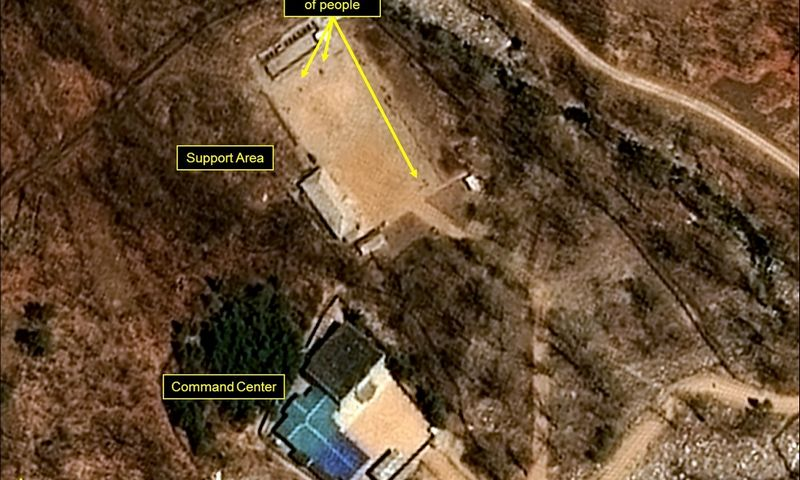 """Šiaurės Korėjos Punggye-ri branduolinių bandymų bazė. """"Reuters"""" / """"Scanpix"""" nuotr."""